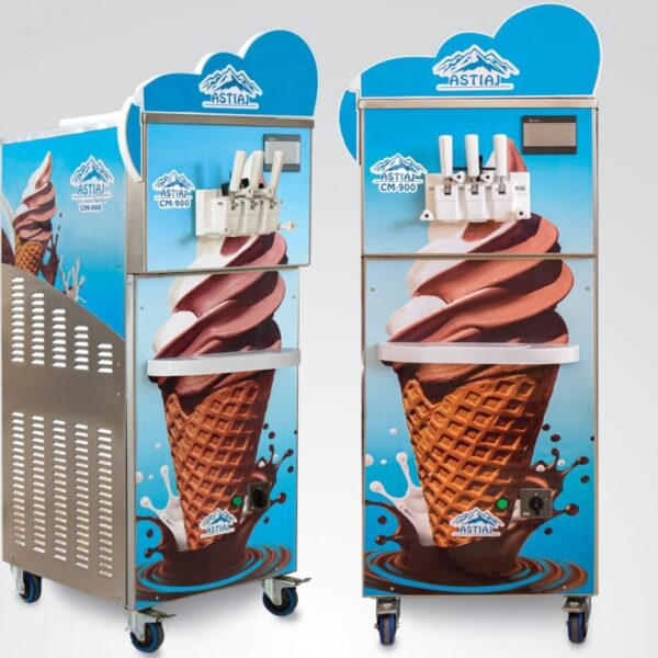 بستنی ساز آستیاژ بستنی ساز سه قیف آستیاژ