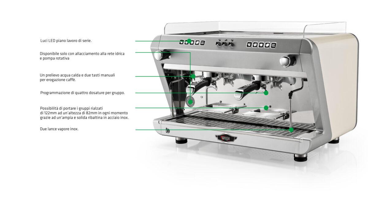 اسپرسو ساز وگا مدل Wega espersso maker model io - io