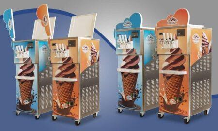 بستنی ساز سه قیفه
